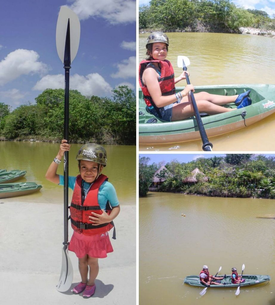Kayak natural activity for kids