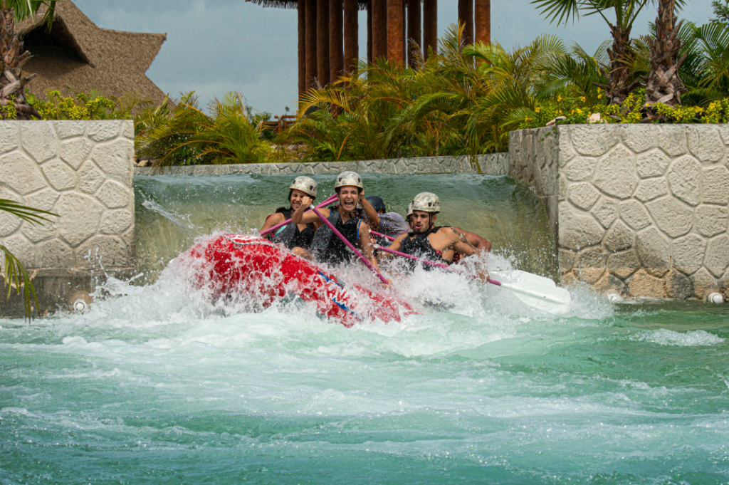 whitewater rapids in Cancun
