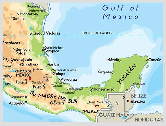 map-mexico