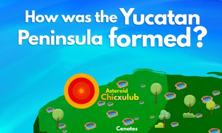 How was the Yucatan Peninsula formed?