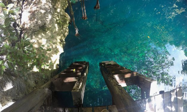 Why is it important to ask for permission before entering a cenote?