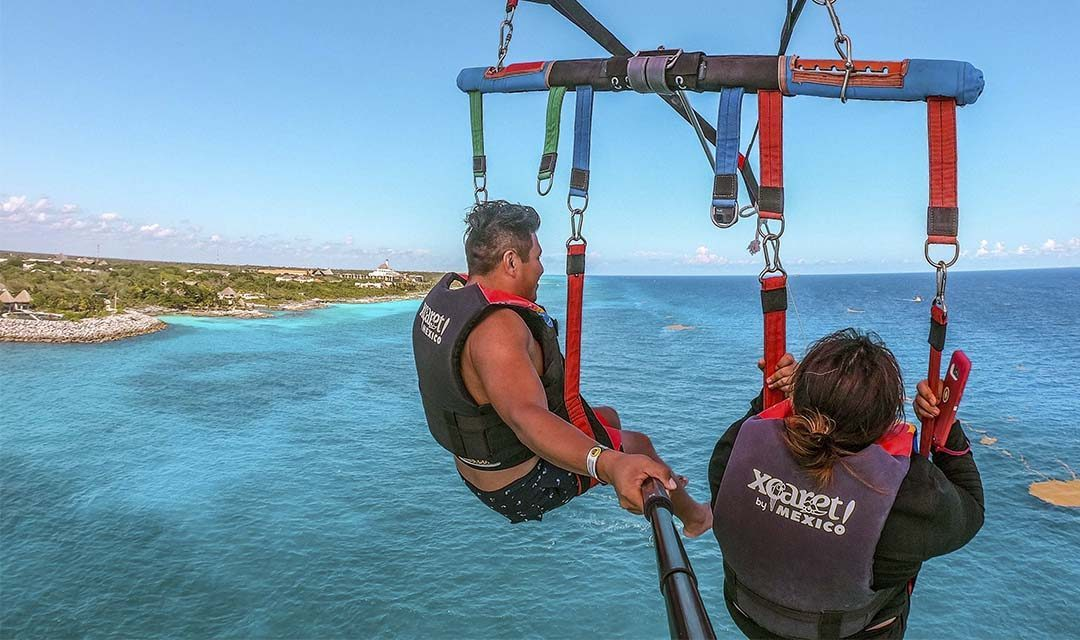 Activities from the heights in the Mexican Caribbean