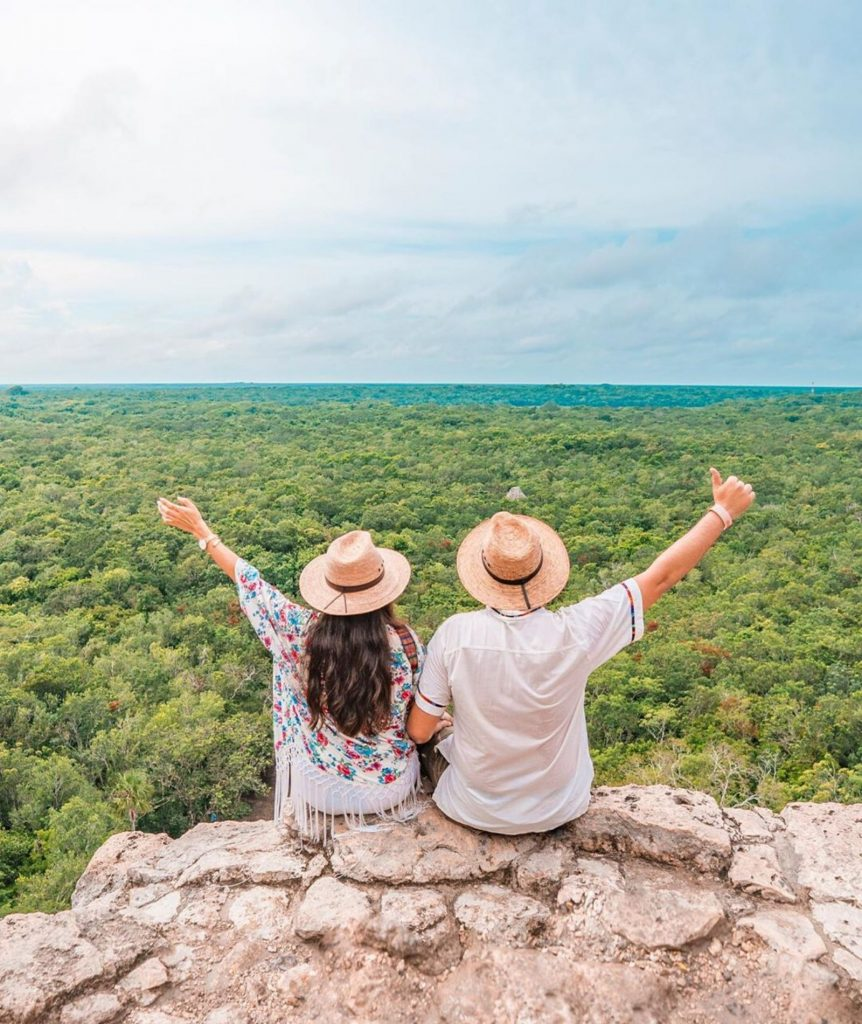Ideal road trip in the Mexican Caribbean for those traveling as a couple-Nohoch Mul Coba