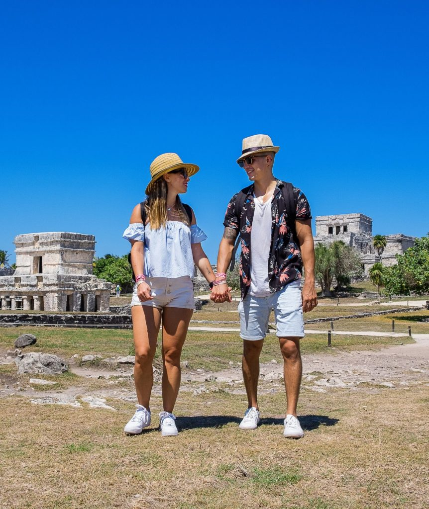 Ideal road trip in the Mexican Caribbean for those traveling as a couple-archaeological zone tulum