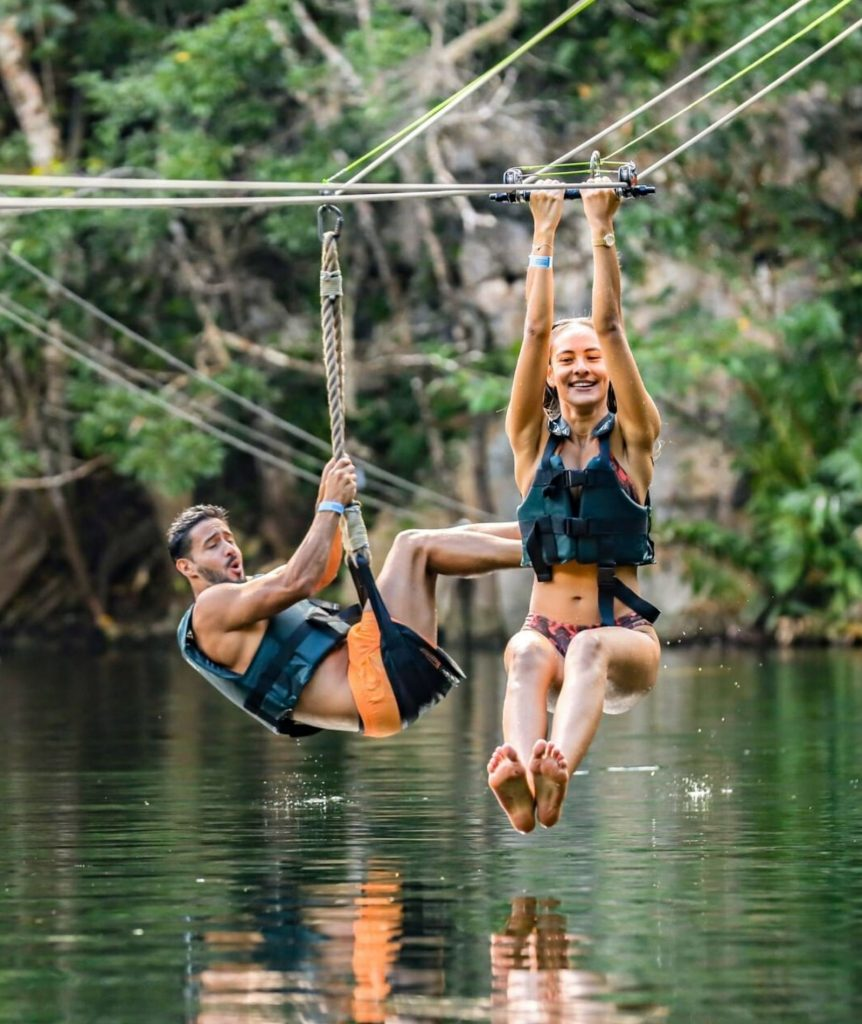 Ideal-road-trip-in-the-Mexican-Caribbean-for-those-traveling-as-a-couple-xenotes-zip-line