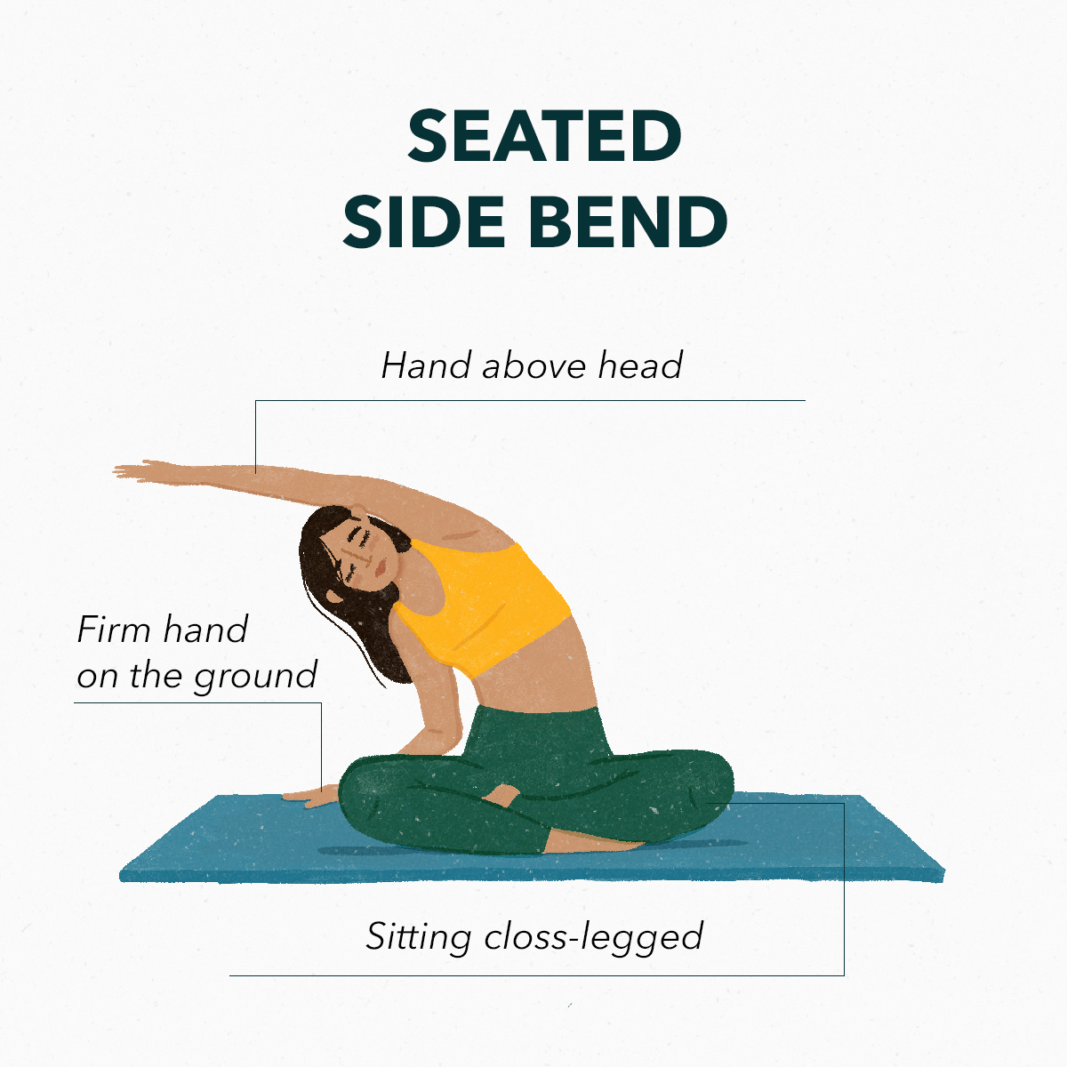 Seated side bend | Basic stretches