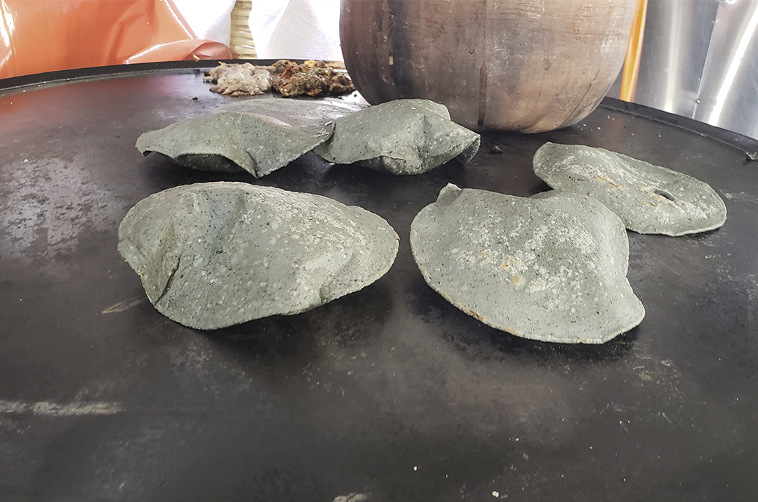 blue corn tortillas for mexican barbecue