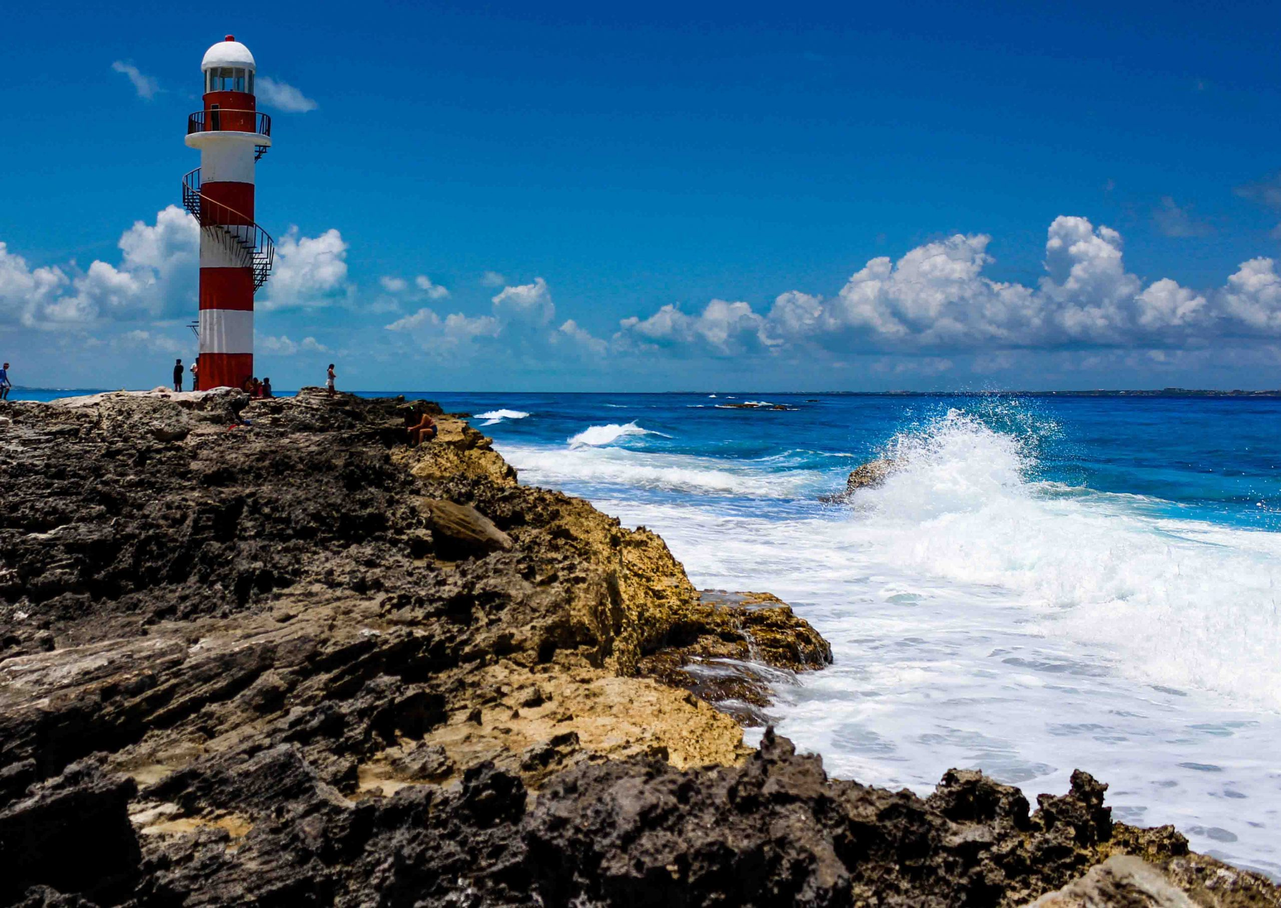 See the sunrise in the Punta Cancun's lighthouse