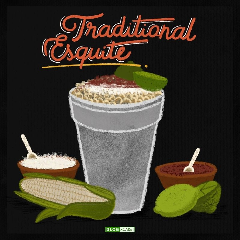 Traditional esquite (Mexican street corn)