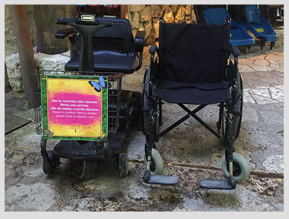 Additional Services of Xcaret: Strollers, Wheelchairs and much more